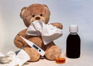 teddy with a cold